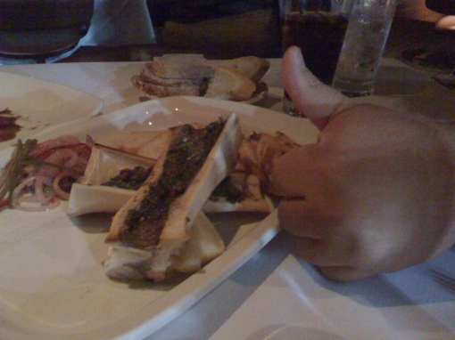 Roasted Marrow elicits a thumbs up.